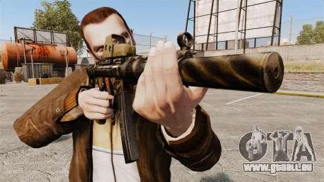 MP5SD mitraillette v3 pour GTA 4 troisième écran