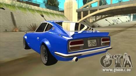 Nissan Wangan Midnight Devil Z S30 für GTA San Andreas Rückansicht