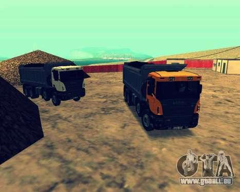 Scania P420 8X4 Dump Truck pour GTA San Andreas vue intérieure