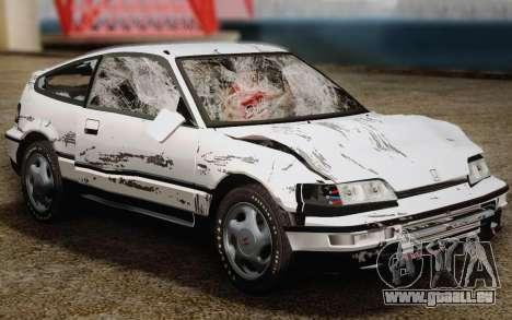 Honda CR-X 1991 pour GTA San Andreas vue de dessus