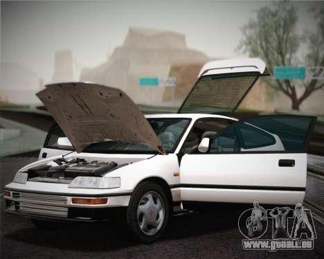 Honda CR-X 1991 pour GTA San Andreas vue intérieure