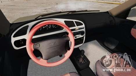 Daewoo Lanos Sport PL 2000 pour GTA 4 vue de dessus