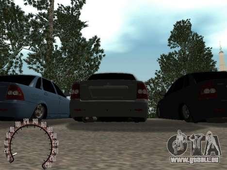 VAZ-2170 pour GTA San Andreas vue intérieure