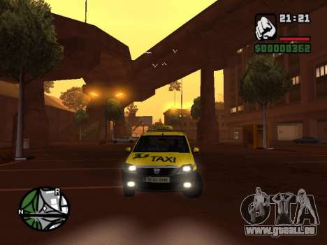 Dacia Logan 2008 LS Taxi für GTA San Andreas