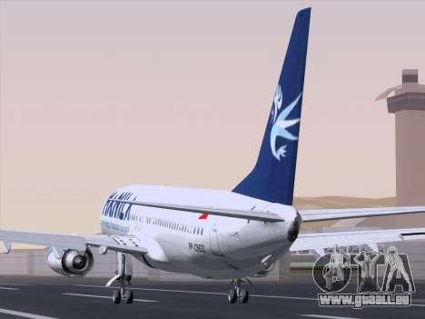 Boeing 737-800 Spirit of Manila Airlines pour GTA San Andreas sur la vue arrière gauche