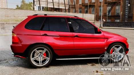 BMW X5 4.8iS v3 pour GTA 4 est une gauche