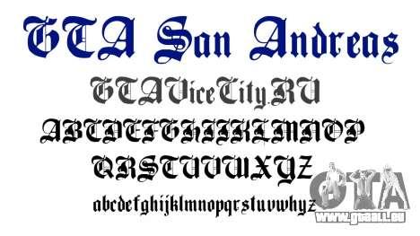 Die offizielle Schrift für GTA San Andreas für GTA San Andreas