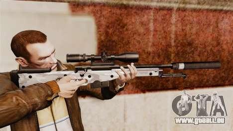 Fusil de sniper AW L115A1 avec un v6 de silencie pour GTA 4