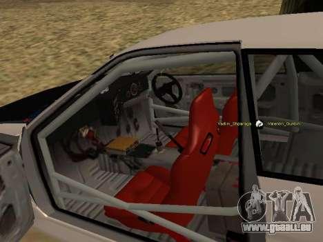 Toyota Corrola GTS JDM für GTA San Andreas Innenansicht