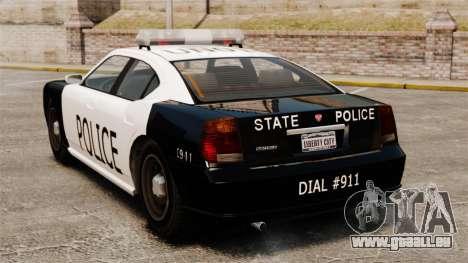 Buffalo policier LAPD v1 pour GTA 4 Vue arrière de la gauche