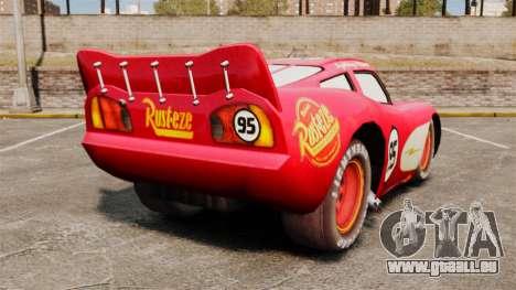 Lightning McQueen v1. 2 für GTA 4 hinten links Ansicht