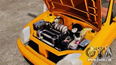 Daewoo Lanos Sport US 2001 pour GTA 4 est une vue de l'intérieur