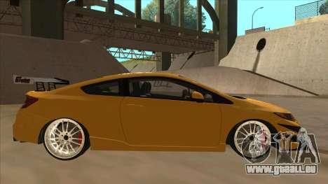 Honda Civic SI 2012 pour GTA San Andreas sur la vue arrière gauche