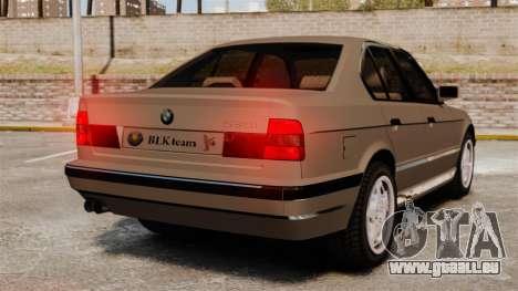 BMW M5 E34 für GTA 4 hinten links Ansicht