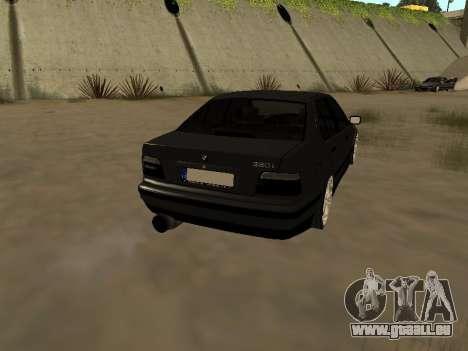 BMW 320i E36 pour GTA San Andreas laissé vue