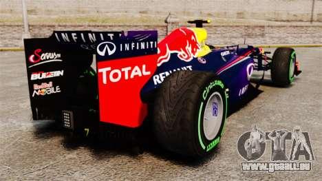 Voiture, Red Bull RB9 v3 pour GTA 4 Vue arrière de la gauche
