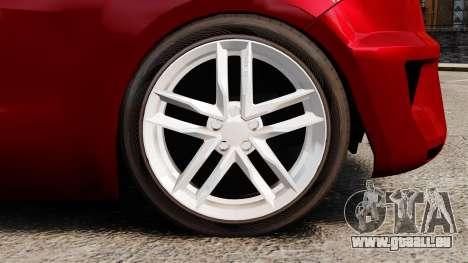 SEAT Ibiza pour GTA 4 Vue arrière