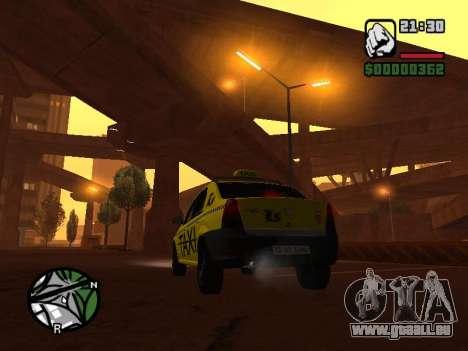 Dacia Logan 2008 LS Taxi pour GTA San Andreas laissé vue