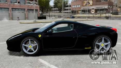 Ferrari 458 Italia 2010 Wheelsandmore 2013 pour GTA 4 est une gauche