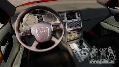 Audi Q7 pour GTA 4 est une vue de l'intérieur