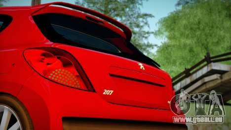 Peugeot 207 pour GTA San Andreas sur la vue arrière gauche