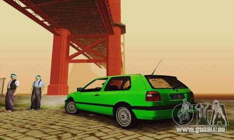 Volkswagen Golf Mk3 GTi 1997 pour GTA San Andreas vue de droite