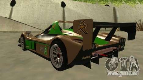 Radical SR8 RX pour GTA San Andreas vue arrière