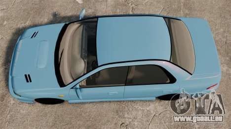 Subaru Impreza WRX STI 5 Domestic Drifter 1999 pour GTA 4 est un droit