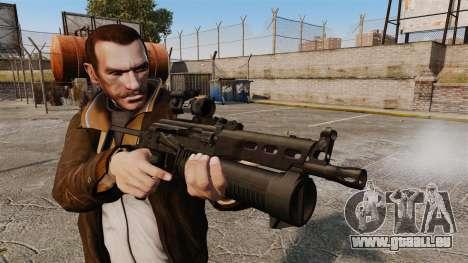 Submachine gun pp-19 Bizon pour GTA 4 troisième écran