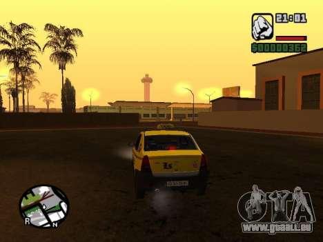 Dacia Logan 2008 LS Taxi für GTA San Andreas zurück linke Ansicht
