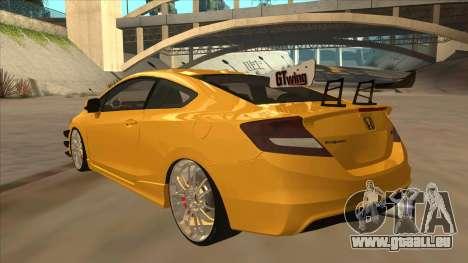 Honda Civic SI 2012 für GTA San Andreas Rückansicht