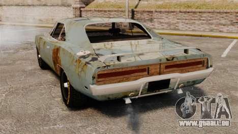 Dodge Charger RT 1969 rouillé v1.1 pour GTA 4 Vue arrière de la gauche