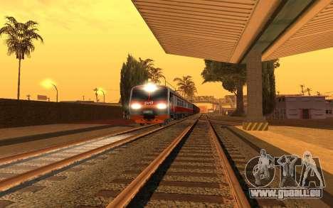 Train light pour GTA San Andreas troisième écran