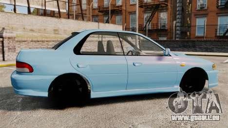 Subaru Impreza WRX STI 5 Domestic Drifter 1999 pour GTA 4 est une gauche