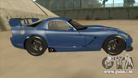Dodge Viper SRT-10 ACR TT Black Revel für GTA San Andreas zurück linke Ansicht