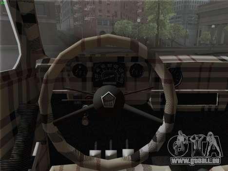 ZAZ 968 pour GTA San Andreas vue intérieure