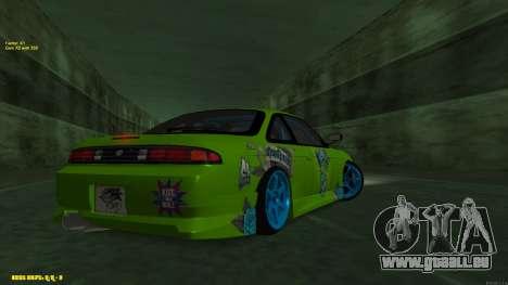 Nissan Silvia S14 CIAY pour GTA San Andreas vue arrière