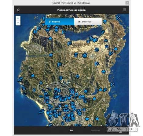 GTA v: Le manuel : le plan de l'espace interacti pour GTA 5
