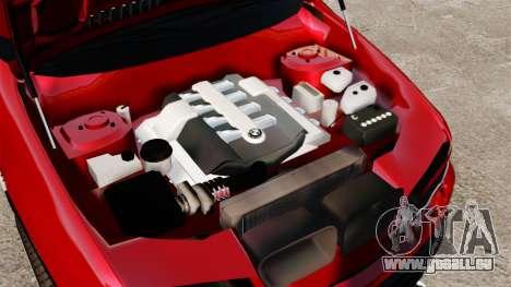 BMW X5 4.8iS v3 pour GTA 4 est une vue de l'intérieur