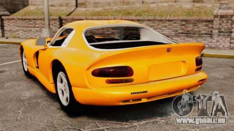 Dodge Viper 1996 für GTA 4 hinten links Ansicht
