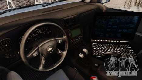 Chevrolet Trailblazer 2002 Massachusetts Police pour GTA 4 Vue arrière