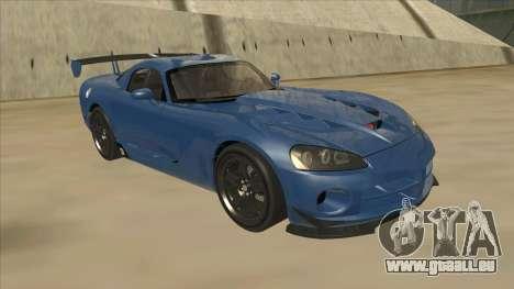 Dodge Viper SRT-10 ACR TT Black Revel pour GTA San Andreas laissé vue