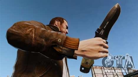 Couteau tactique v4 pour GTA 4 troisième écran