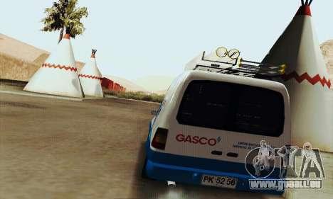 Chevrolet Combo Gasco pour GTA San Andreas vue de droite