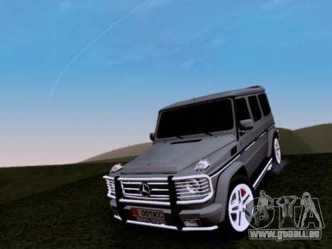 Mercedes-Benz G55 AMG pour GTA San Andreas vue de dessus