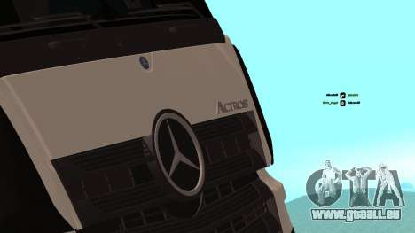 Mercedes-Benz Actros für GTA San Andreas Innenansicht