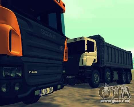 Scania P420 8X4 Dump Truck pour GTA San Andreas salon