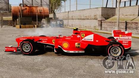 Ferrari F138 2013 v6 pour GTA 4 est une gauche