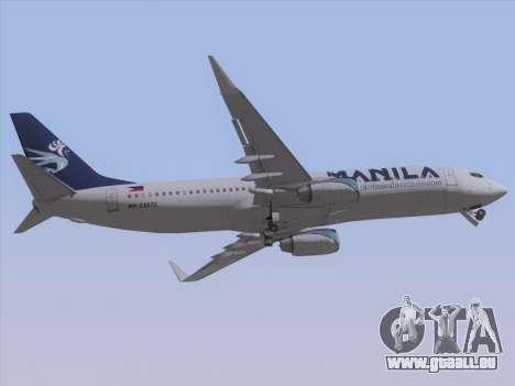 Boeing 737-800 Spirit of Manila Airlines pour GTA San Andreas vue intérieure