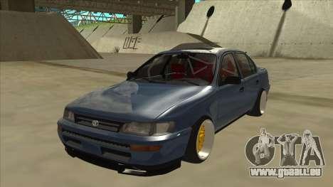Toyota Corolla 1.6 1997 Hellaflush pour GTA San Andreas